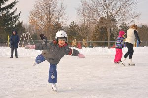 Children skating in Lanark County