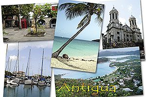 "Antigua W.I. Collectible Postcard ANU4601,  size 153mm * 102mm ( 6"" x 4"")"