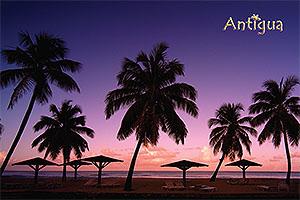 Sunset Antigua Postcard