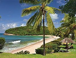 "Hawksbill Bay Antigua W.I. Collectible Postcard ANU4662A,  size 153mm * 102mm ( 6"" x 4"")"