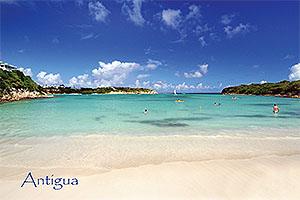 "Lover's Beach, The Verandah Antigua W.I. Collectible Postcard ANU4684,size 153mm * 102mm ( 6"" x 4"")"
