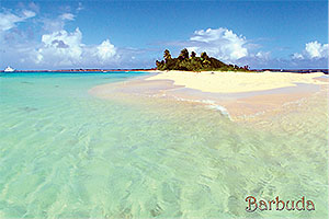 """Coco Point in Barbuda, Antigua W.I. Collectible Postcard BB461,size 153mm * 102mm ( 6"""" x 4"""")"""