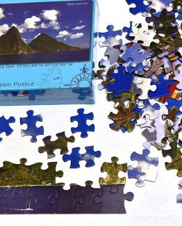 Double Sided Puzzle Saint Lucia 100pcs set
