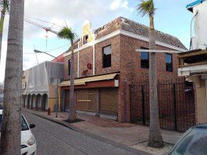 Front Street construction in Philipsburg, Sint Maarten