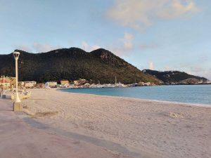 Great bay Beach in Philipsburg, Sint Maarten