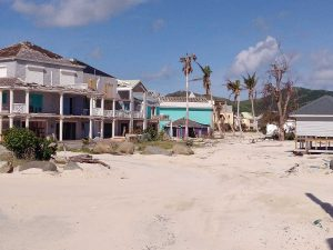 Orient beach Village in Saint Martin, French West Indies