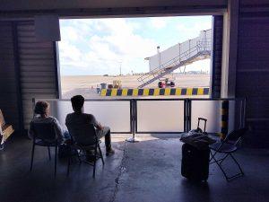 Departure Lounge in Sint Maarten Princess Juliana Airport after Irma hurricane