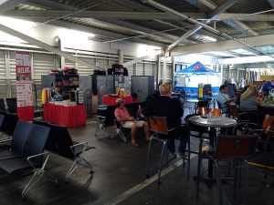Temporary Departure Lounge solution in Sint Maarten Princess Juliana Airport after Irma hurricane