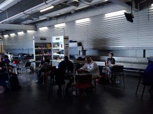 Temporary Departure Lounge in Sint Maarten Princess Juliana Airport after Irma hurricane