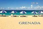Grenada St. George's Beach Umbrellas Fridge Magnet 014 by KIMAGIC