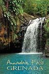 Grenada Anandale Falls Fridge Magnet 017 by KIMAGIC