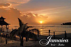 Sunset Fridge Magnet 001 Jamaica by KIMAGIC