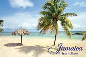 Beach Scene Fridge Magnet 002 Jamaica by KIMAGIC