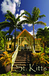 Caribelle Batik entrance ,Saint Kitts fridge magnet 010