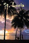 Saint Lucia view Fridge Magnet 002
