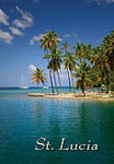 Marigot Bay in Saint Lucia view Fridge Magnet 005