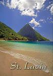 Saint Lucia Pitons view Fridge Magnet 006