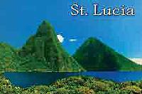 Saint Lucia Pitons view Fridge Magnet 007
