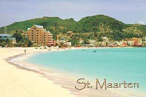 Great bay Beach in Philipsburg, Sint Maarten fridge magnet 003