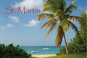 Happy Bay in Saint Martin fridge magnet 014 by Kimagic