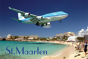 Maho Beach in Sint Maarten fridge magnet