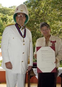 June 2003 Tony Longrigg Governor of Montserrat presenting awards