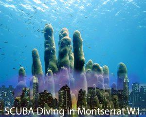 SCUBA Diving in Montserrat photo collage
