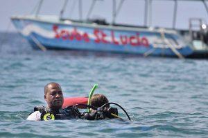 Deep Water SCUBA Diver certification dive at Anse Chastanet Marine Park, Saint Lucia