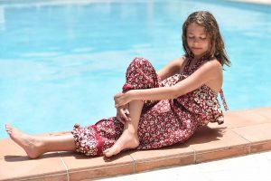 Fashion Model in Fox Grove Inn pool, Saint Lucia
