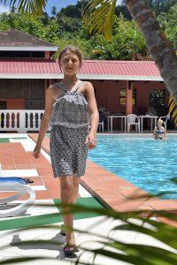 Grey Romper by Anna in Beautiful Saint Lucia