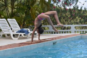 Fun in swimming pool, Beautiful Saint Lucia