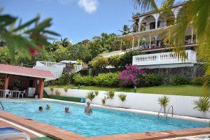 Swimming Pool at Fox Grove Inn, Beautiful Saint Lucia