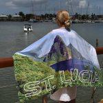 Saint Lucia Pitons Beach Towel