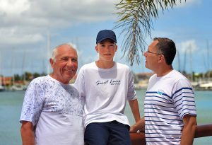 Three Generations in St. Lucia