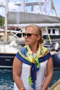 Saint Lucia Silk Scarf, Marigot Bay Marina, Saint Lucia