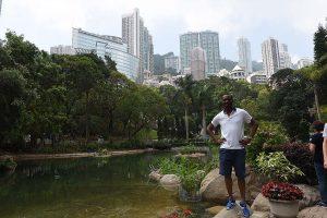 Beautiful ponds in Hong Kong Park