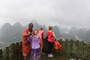 Spectacular and misty XingPing Mountain view