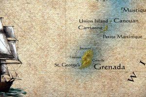 """Map Caribbean Islands West Indies 16"""" x 20"""" 40cm x 50 cm"""