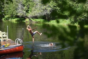 Water fun in great vacation spot, Dolly's Cottage in Lanark County, Ontario, Canada