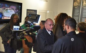 Interview with Moses Znaimer during the opening night at MZTV Museum of Television in Toronto