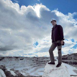 Professional Photographer Igor Kravtchenko at Tatlock Marble Quarry, Ontario