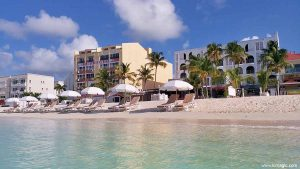 Great Bay Beach near The Holland House Hotel in Philipsburg Sint Maarten