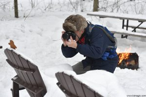 Gingerbread Man posing for Gary Cralle during the photo session at Arrowhead Provincial Park Ontario