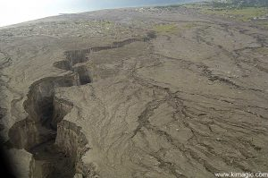 8 January 2006 Aerial View of Mud flows from Soufriere Hills Volcano
