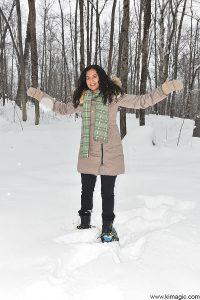 on snowshoes-Arrowhead Provincial Park Ontario