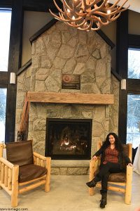 Fireplace in Visitors Center -Arrowhead Provincial Park Ontario