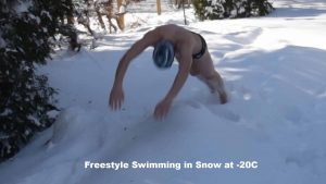 Freestyle Swimming in Snow at -20C