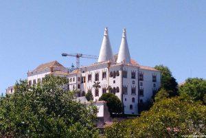 The Palácio Nacional de Sintra is in the centre of Sintra