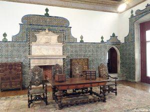 Dining room in The Palácio Nacional de Sintra