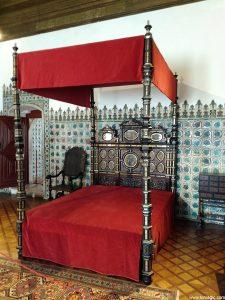 Bedroom in The Palácio Nacional de Sintra